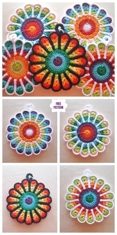 Crochet Flower Potholders Free Crochet Patterns