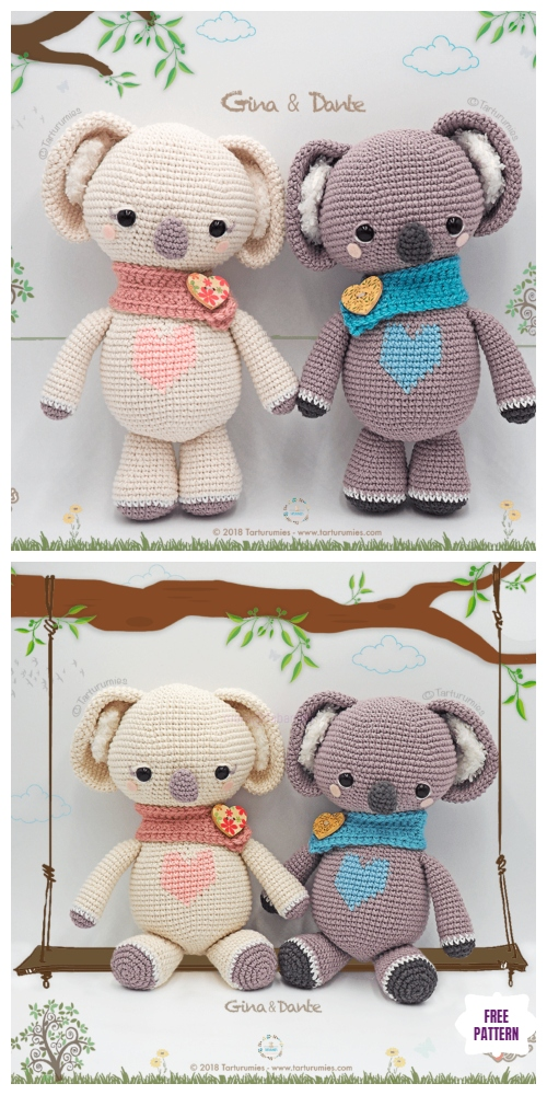 Crochet Valentine Koala Amigurumi Free Patterns