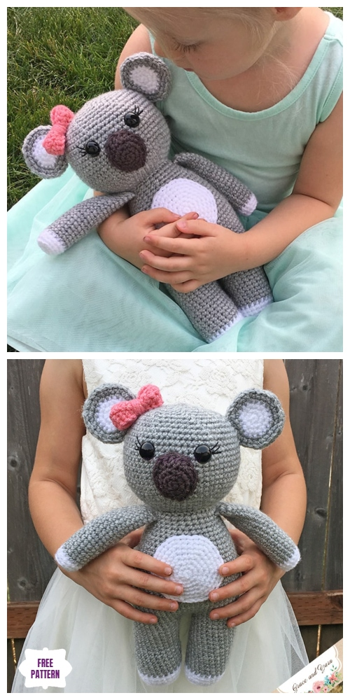 Crochet Koala Amigurumi Free Patterns