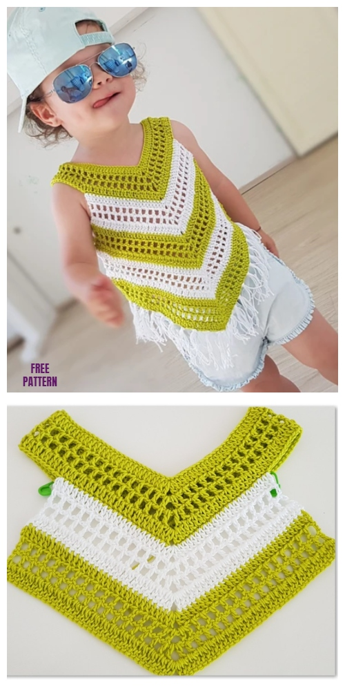 Easy Crochet Little Girl Summer Top Free Crochet Pattern - Video
