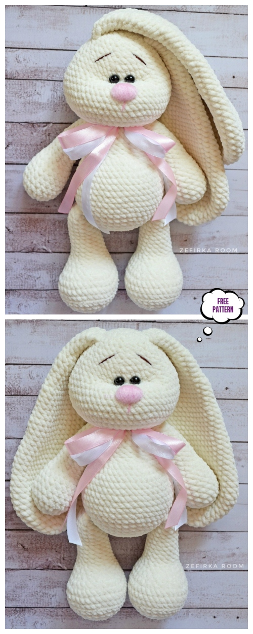 Crochet Long Ear Bunny Amigurumi Free Pattern