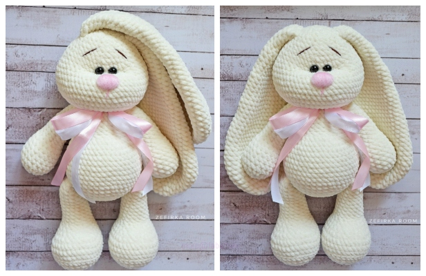 Free Crochet Pattern for a Little Amigurumi Bunny, So Adorable! | 400x616