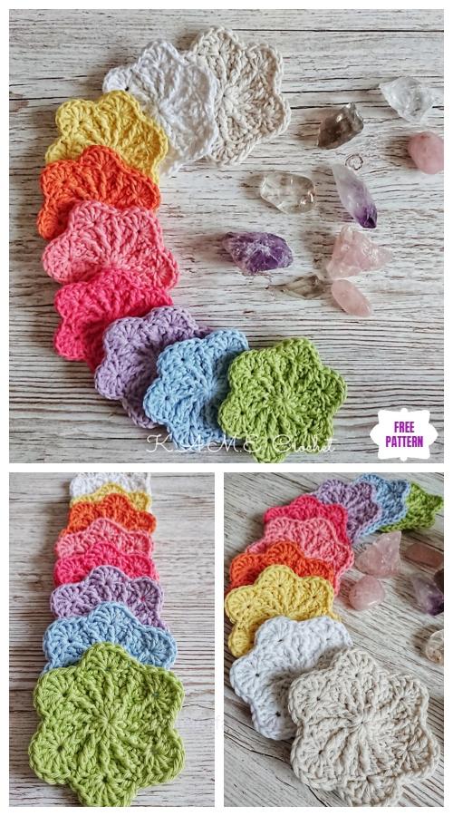 Crochet Sakura Face Scrubbies Free Crochet Pattern