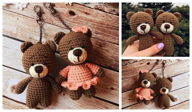 Amigurumi Crochet Tiny Teddy Bear Paid Pattern - Amigurumi Crochet ... | 361x616