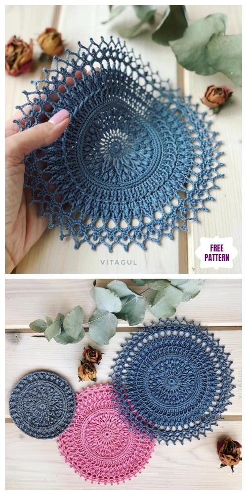 Crochet Tesla Doily Free Crochet Pattern