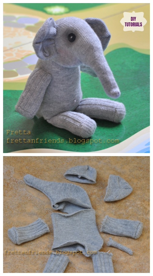 DIY Sock Elephant Free Sew Pattern Tutorial