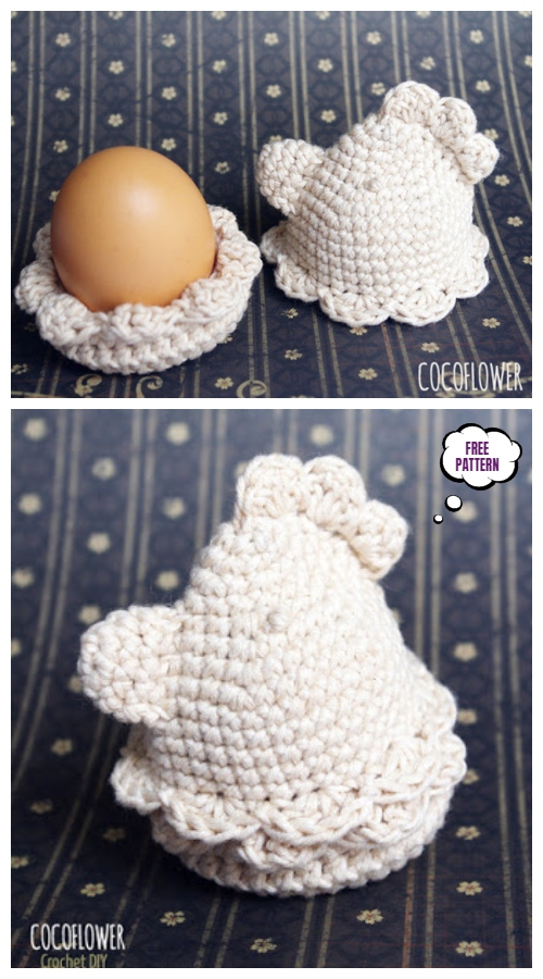 Crochet Easter Chicken Egg Cosy Set Free Crochet Patterns