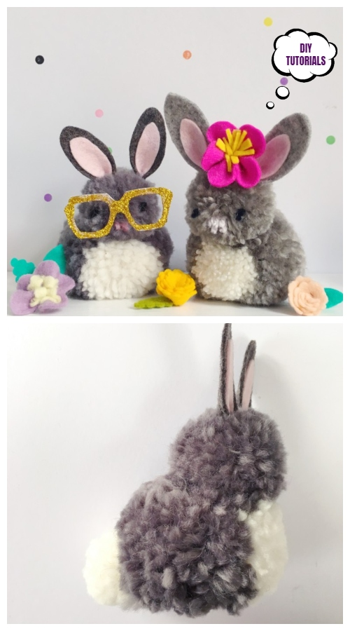 Easter DIY Pom Pom Bunny Tutorials