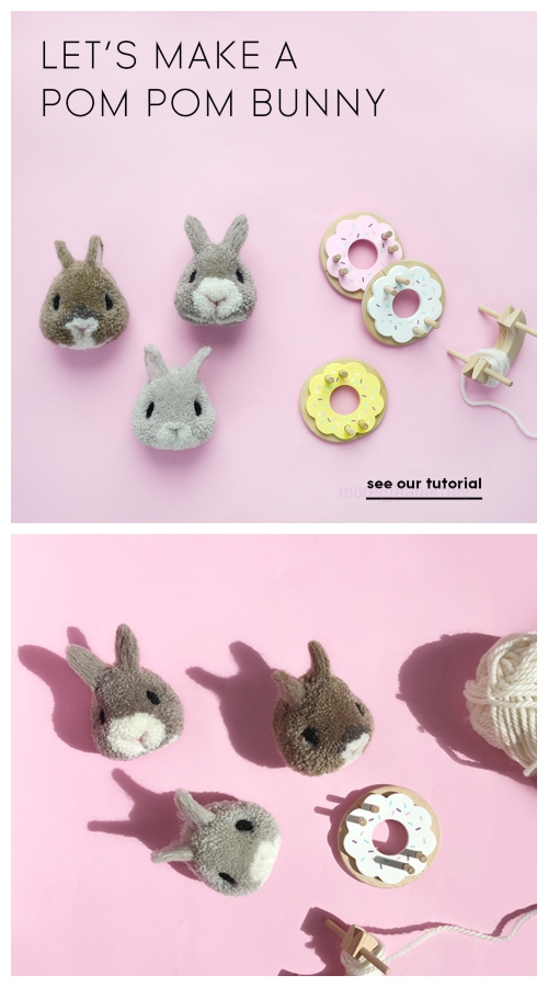 Cute Easter DIY Pom Pom Bunny Tutorial - Video