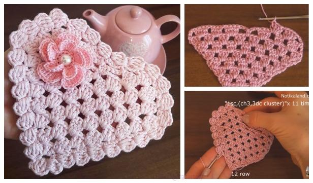 Easy Granny Stitch Heart Doily Free Crochet Pattern Diy Magazine