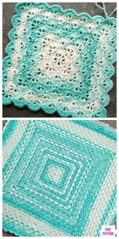 Granny Shells Blanket Free Crochet Pattern