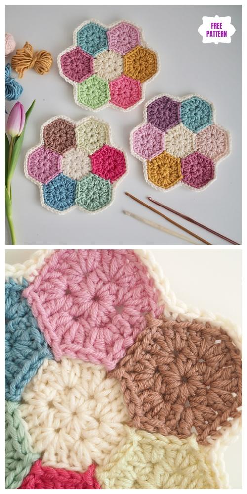Crochet Hexagon Flower Doily Free Crochet Pattern