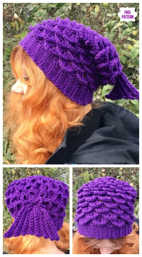 Crochet Mermaid Slouch Hat Free Crochet Pattern