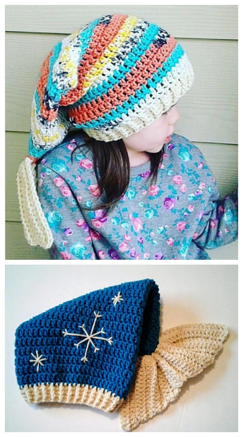 Crochet Mermaid Slouch Hat  Crochet Pattern