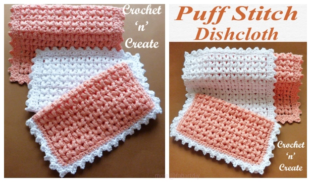 Crochet Puff Stitch Dishcloth Free Crochet Patterns