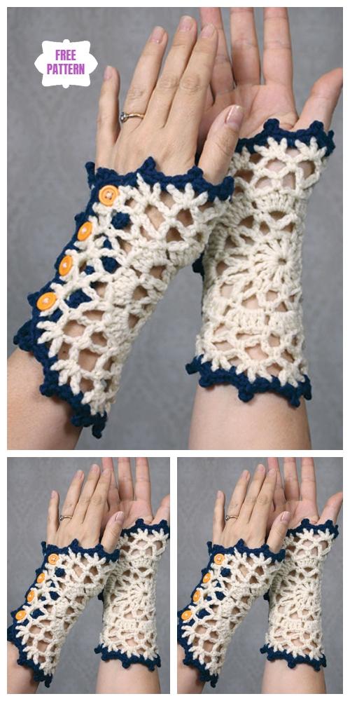 Vintage Doily Wristlets Free Crochet Pattern