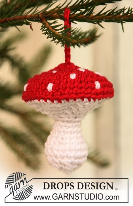 Crochet Christmas Mushroom Amigurumi Free Patterns
