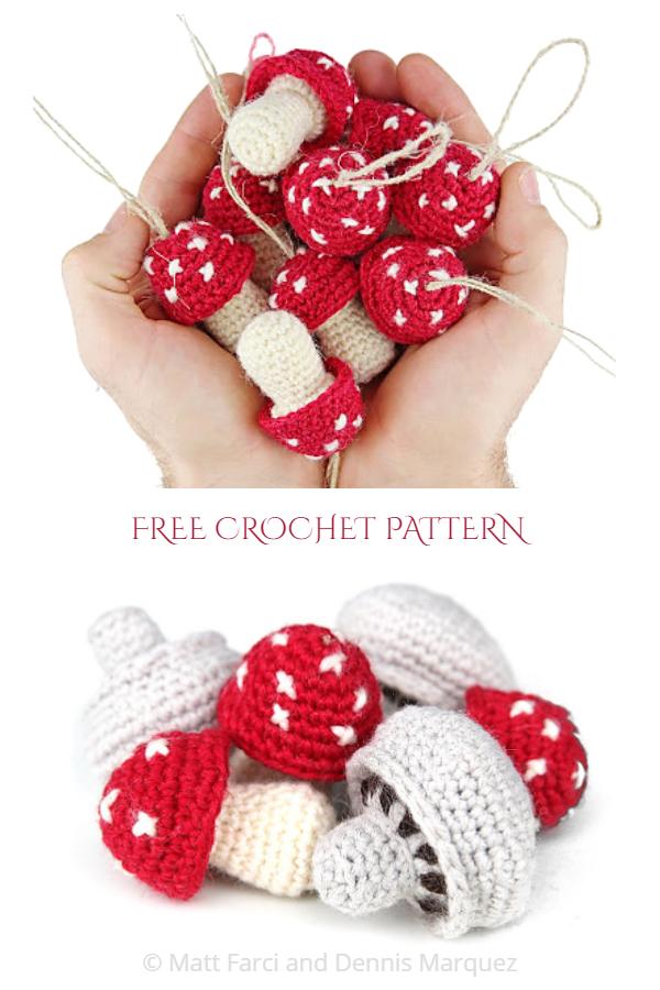 Crochet Toadstools & Mushroom Amigurumi Free Patterns
