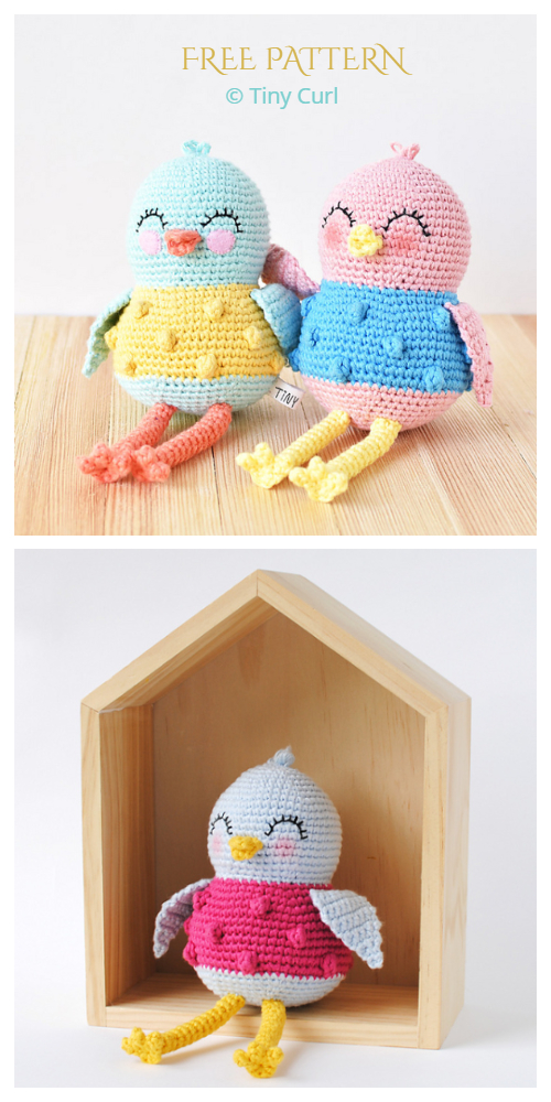 Crochet Sweet Bird Amigurumi Free Pattern