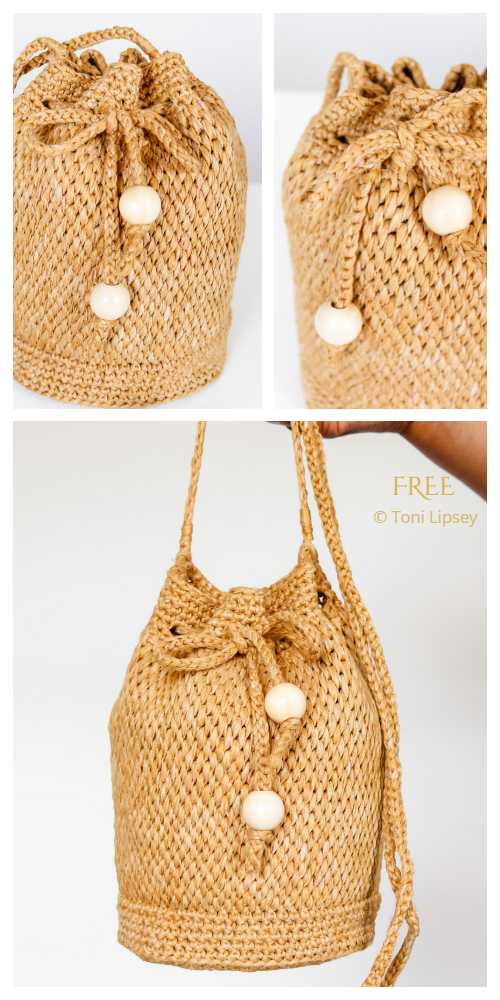 Harper Bucket Bag Free Crochet Pattern
