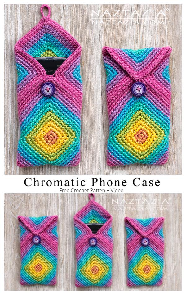 Chromatic Phone Case Free Crochet Pattern + Video