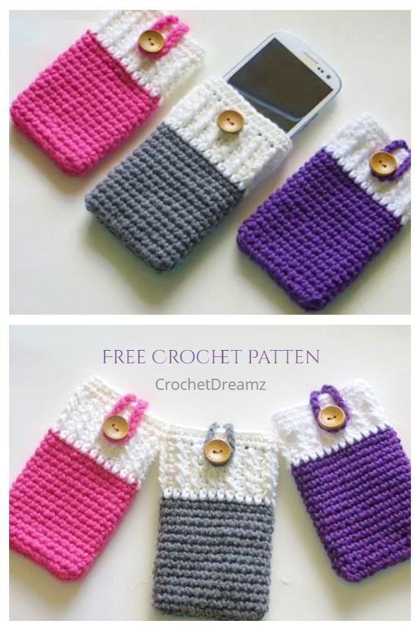 Easy Crochet Mobile Phone Case Free Crochet Patterns
