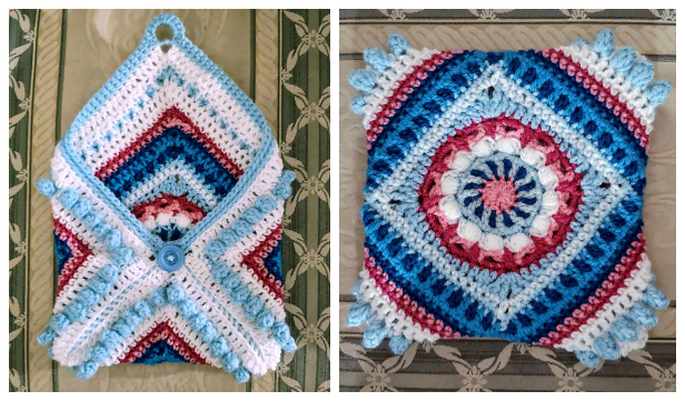 Granny Square Pouch Free Crochet PatternGranny Square Pouch Free Crochet Pattern