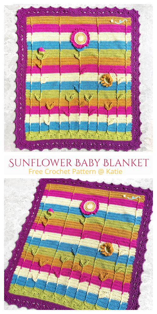 Sunflower Baby Blanket Free Crochet Patterns