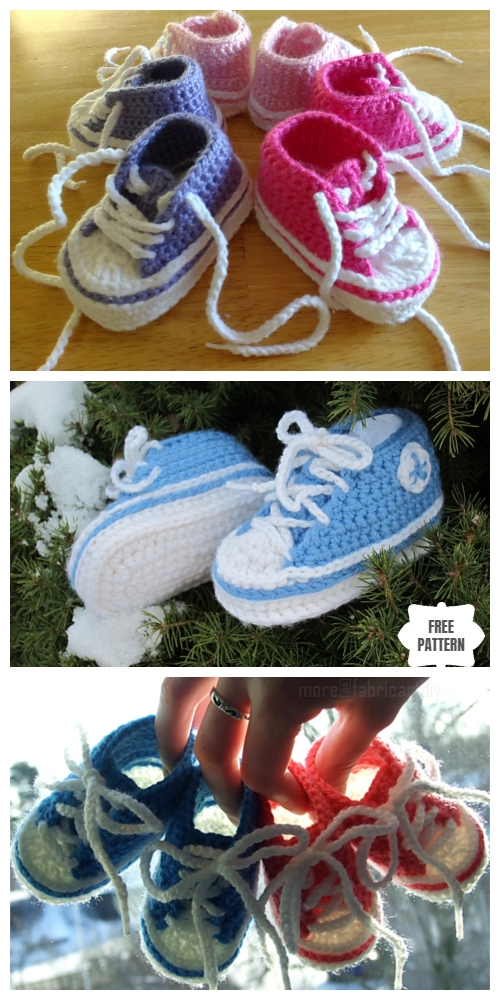 Crochet Baby Converse Booties Free Crochet Pattern Video Diy