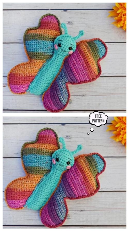 Crochet Butterfly Cuddler Amigurumi Free Pattern