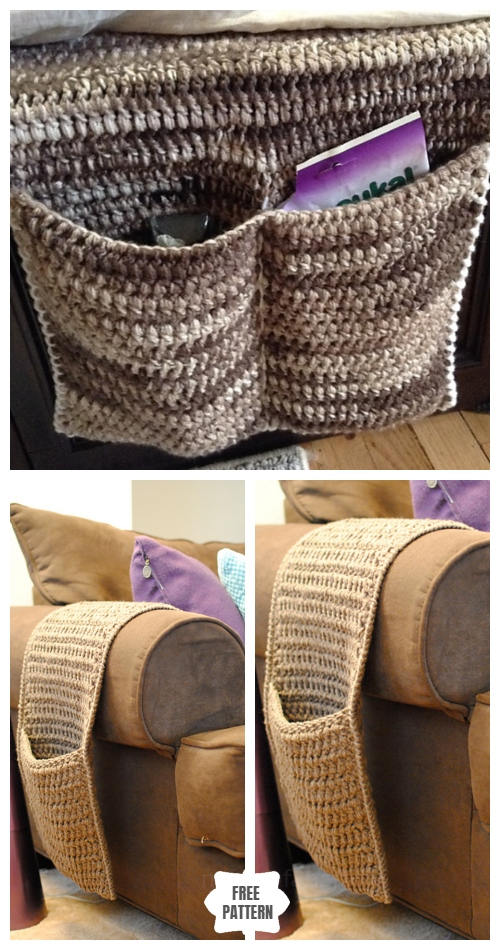 Crochet Couch Bedside Organizer Caddy Free Crochet Patterns
