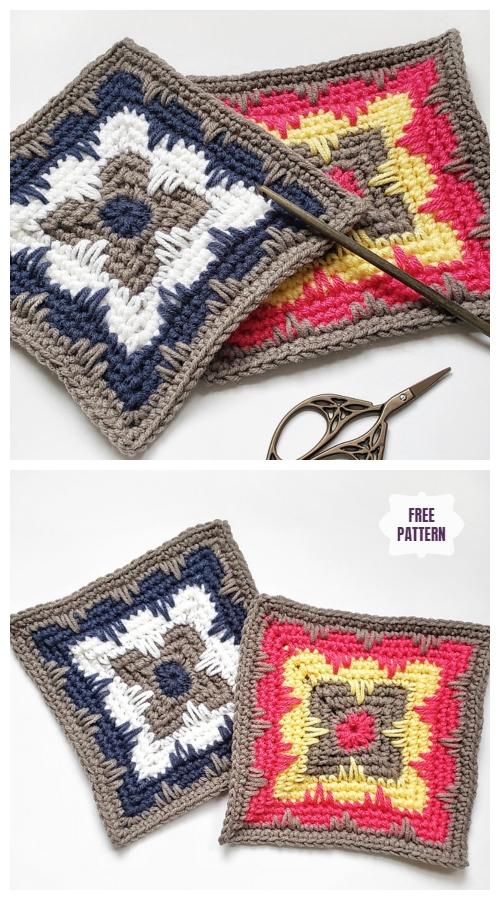 Crochet Deco Square Free Crochet Pattern