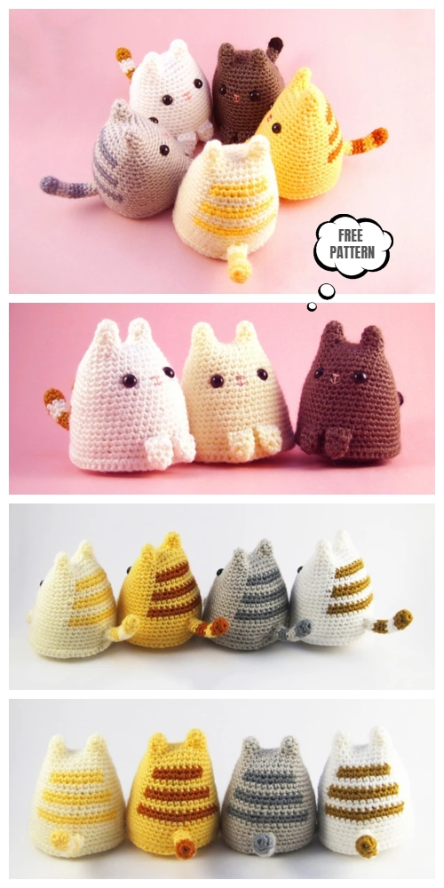 Crochet Dumpling Kitty Amigurumi Free Pattern