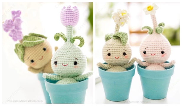 Ravelry: Flower Bulb Amigurumi Collection - patterns | 361x616