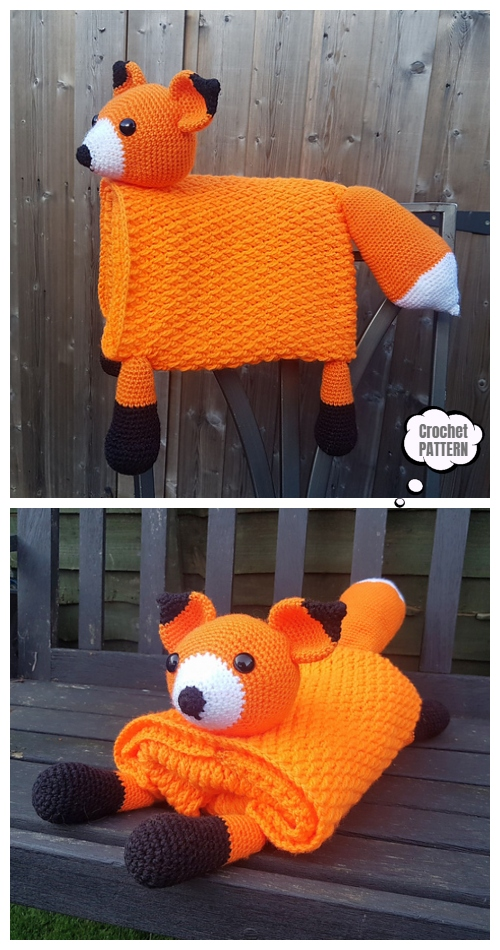 Crochet Wonderland Fox Blanket Crochet Pattern