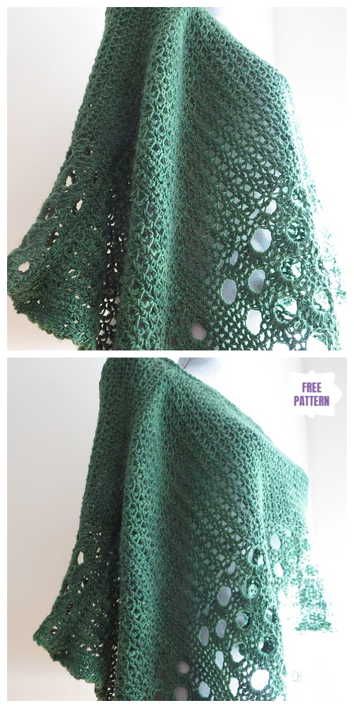 Crochet Kelley's Lace Poncho Free Crochet Pattern