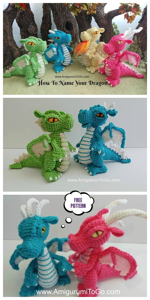 Crochet Magical Small But Mighty Dragon Dragon Amigurumi Free Pattern