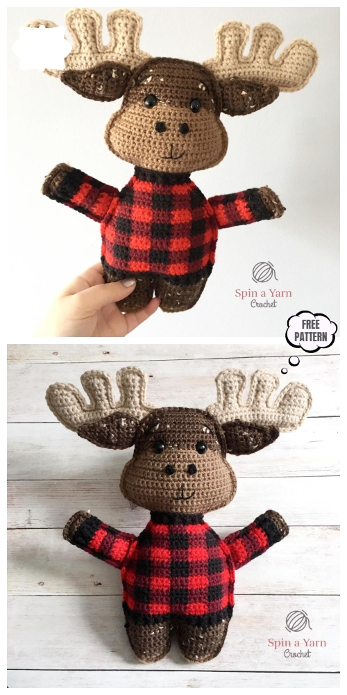 Crochet Moose Amigurumi Free Pattern