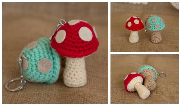 Crochet Mushroom 6 Inch Pattern Free | 361x616