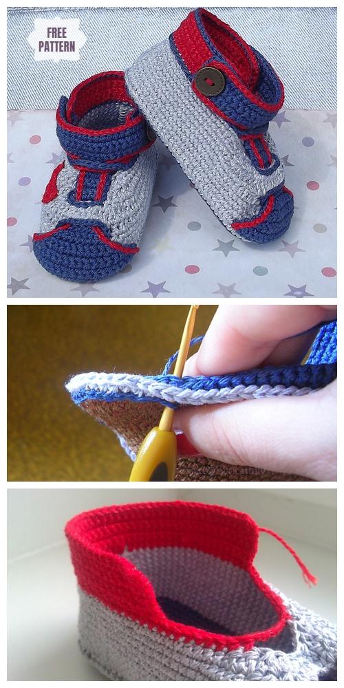 Crochet Nike Baby Sneakers Free Crochet Pattern