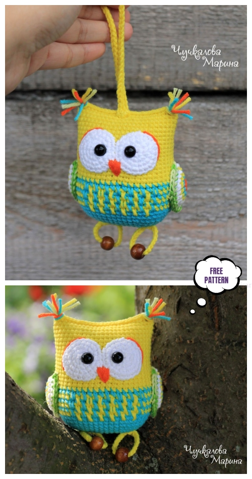 Crochet Owl Rattle Amigurumi Free Patterns