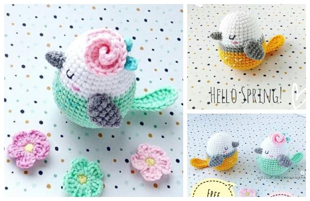 Crochet Spring Bird Amigurumi Free Pattern