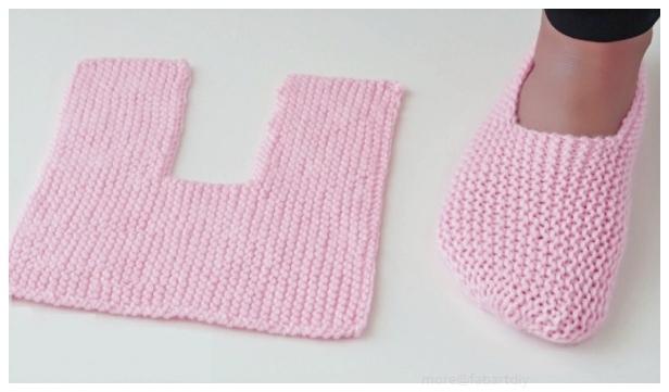 Easy Garter Stitch Slippers Free Knitting Pattern - Video