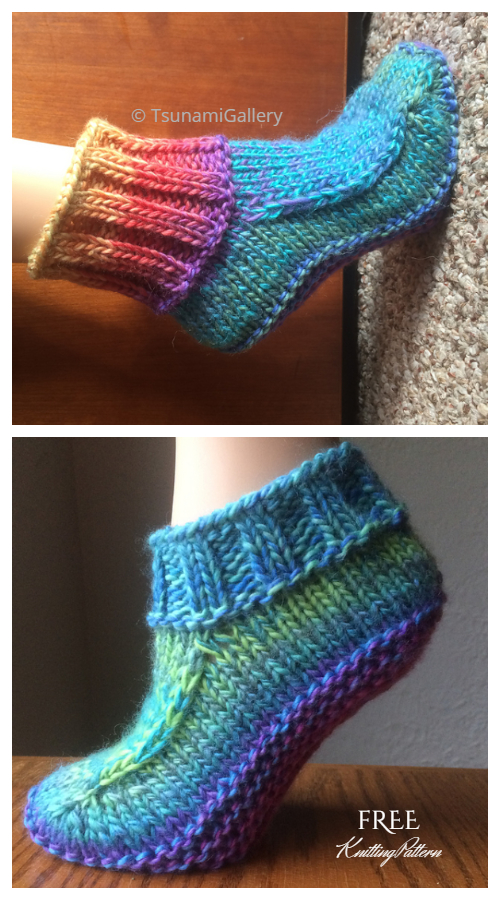 Knit Women Non-Felted Slippers Free Knitting Pattern
