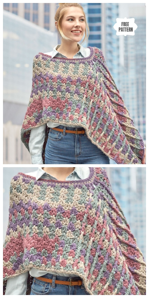 Mountain Breeze Poncho Free Crochet Pattern