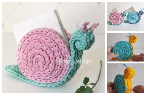 Knitted snails crochet snails amigurumi toy Snail Plush   Etsy   400x616