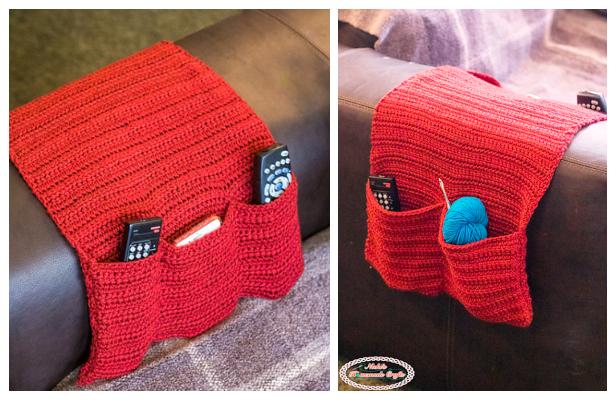 Sofa Armchair Caddy Organizer Free Crochet Patterns