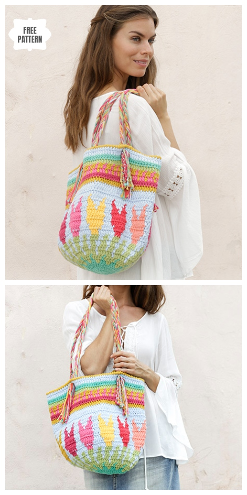 Crochet Spring Tulip Bag Free Crochet Patterns