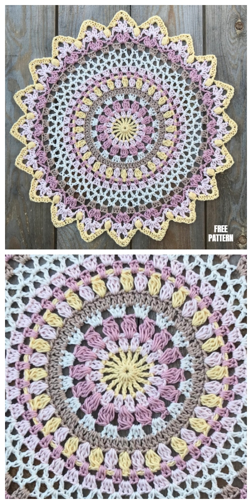 Sunset Mandala Free Crochet Pattern