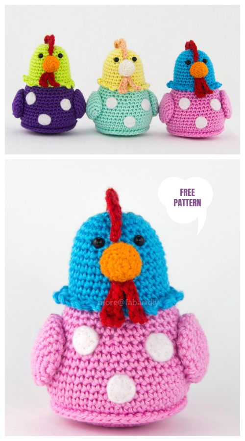 Vintage Crochet Easter Chicken Amigurumi Free Patterns